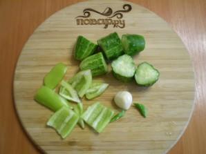 Зеленый коктейль для сыроедов - фото шаг 2