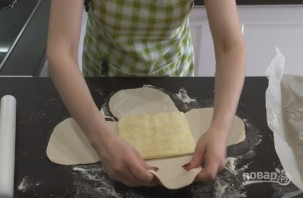 Пресное слоеное тесто (домашний рецепт) - фото шаг 8