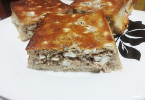Пирог с рыбной консервой - фото шаг 4