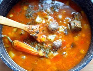"Рисовый суп ""Мастава"" с фрикадельками - фото шаг 9"