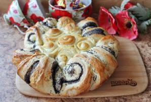 Пирог с маком из дрожжевого теста - фото шаг 14