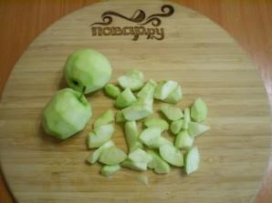 Манник с яблоками на кефире - фото шаг 7