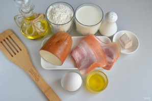 Соленая коса с сыром и беконом - фото шаг 1