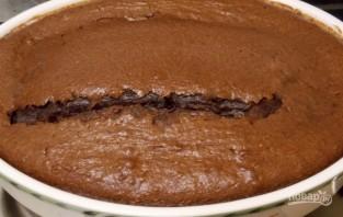 Шоколадный манник с шоколадом - фото шаг 6