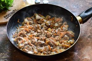 Болгарский перец фаршированный куриной печенью - фото шаг 5
