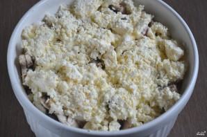 Курица с грибами в духовке - фото шаг 6