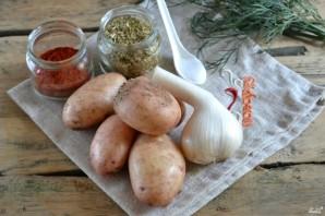 Картофель по-деревенски в духовке - фото шаг 1