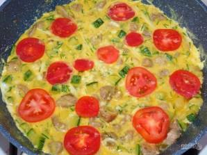 Фриттата с мясом, кабачками и помидорами - фото шаг 4
