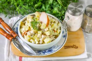 Салат с копченой курицей и картошкой - фото шаг 5