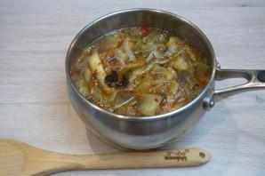 Суп с запеченными баклажанами - фото шаг 4