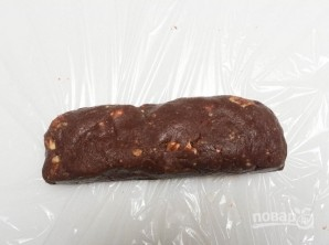 """Шоколадная колбаска """"Сладкоежка"""" - фото шаг 5"""