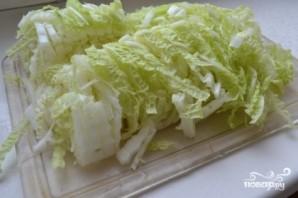 Греческий салат с пекинской капустой - фото шаг 1