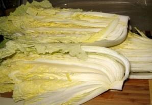 Маринованная китайская капуста - фото шаг 1