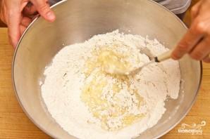 Песочный пирог с персиками - фото шаг 3