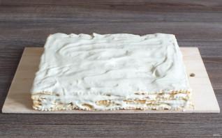 Крем с халвой для торта - фото шаг 8