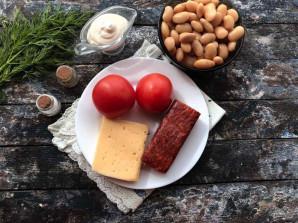Салат с фасолью и копченой колбасой - фото шаг 1