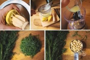 Запеченная семга с зеленью и орехами - фото шаг 4