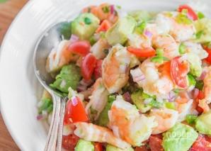 Салат с креветками и авокадо - фото шаг 5