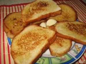 Сухари с чесноком в духовке - фото шаг 5