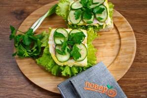 Бутерброд из чиабатты - фото шаг 5