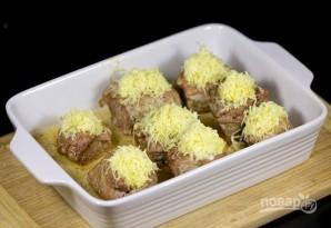 Мясные кармашки с ананасами - фото шаг 7