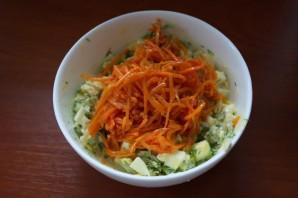 Салат с перцем и сыром - фото шаг 5