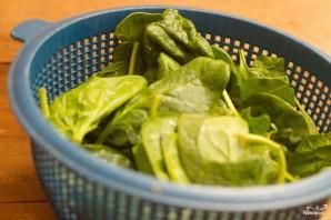 Салат со свежим шпинатом - фото шаг 1