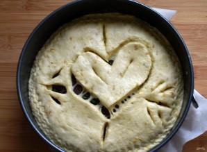 Пирог с сердцем внутри - фото шаг 11