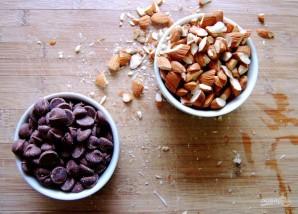 """Печенье """"Двойной шоколад"""" с миндалём - фото шаг 2"""