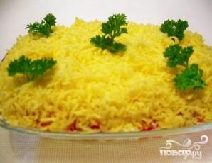Слоеный салат с водорослями - фото шаг 6