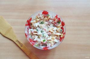 Салат с жареным яйцом и курицей - фото шаг 9