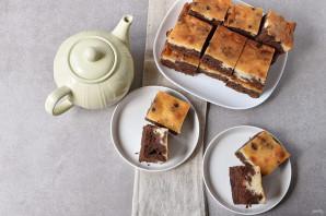 Шоколадный пирог с творогом - фото шаг 11