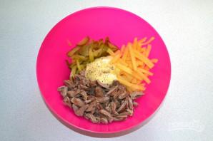 Салат с сердцем и сыром - фото шаг 7
