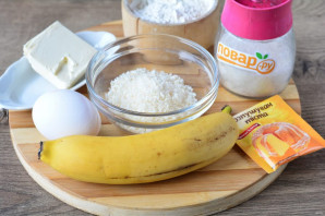 Бананово-кокосовый пирог