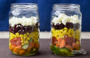 """Овощной салат """"Витамины в баночке"""" - фото шаг 4"""
