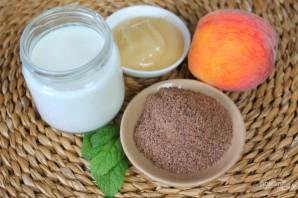 Полезный коктейль из йогурта с персиком и семенами льна - фото шаг 1