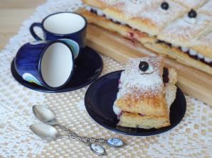 Пирожные с кремом и ягодами - фото шаг 15