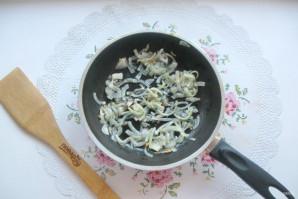 Салат с мясом и жареными шампиньонами - фото шаг 6