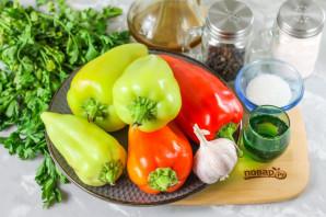 Жареный болгарский перец в маринаде - фото шаг 1