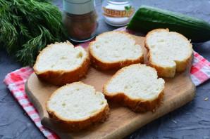 Бутерброды с рикоттой и красной рыбой - фото шаг 2