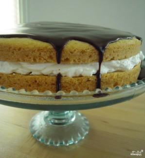Бостонский торт с кремом - фото шаг 3