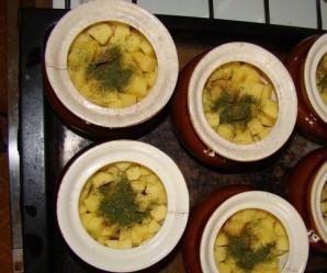 Баранина с горохом в горшочке в духовке - фото шаг 3