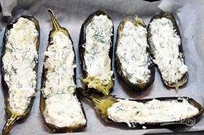 Лучший рецепт баклажанов, фаршированных творогом и сыром с майонезом - фото шаг 7