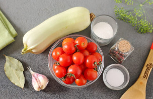 Ассорти из помидоров и кабачков на зиму - фото шаг 1