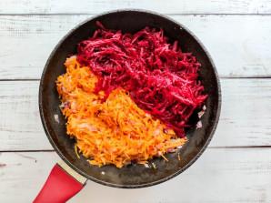 Гречка со свеклой и морковью - фото шаг 4