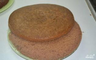 Шоколадный торт со сметанным кремом - фото шаг 5