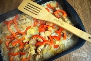 Курица с рисом и овощами в фольге - фото шаг 7