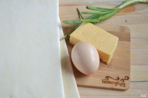 Хачапури с сыром из слоеного теста - фото шаг 1
