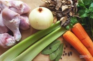 Лапша куриная с грибами и тимьяном - фото шаг 1