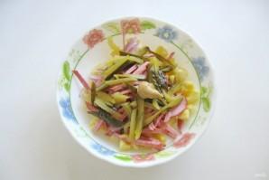 Картофельный салат с колбасой - фото шаг 5